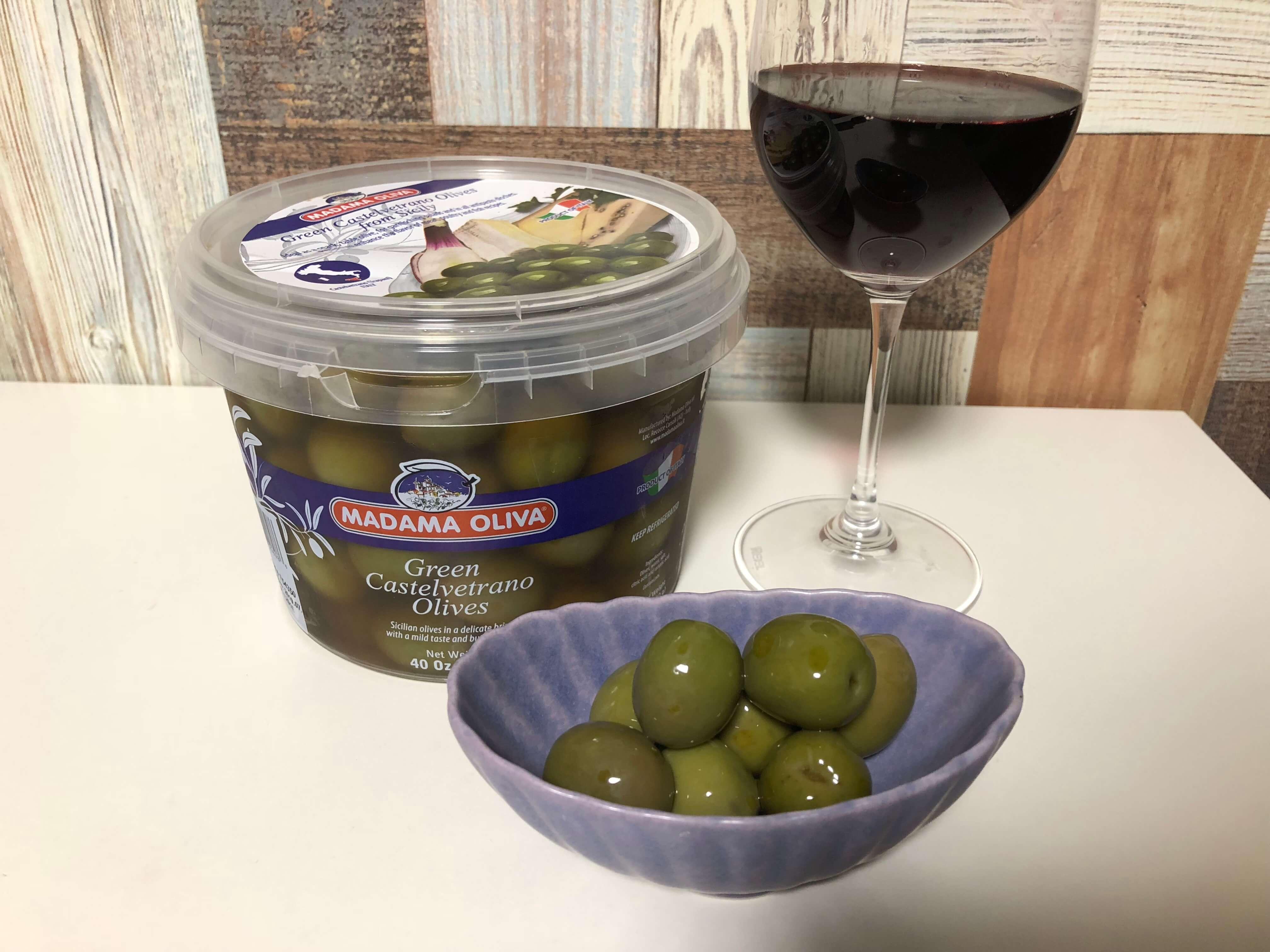 コストコのイタリア産グリーンオリーブ「MADAME OLIVA」が超おすすめ